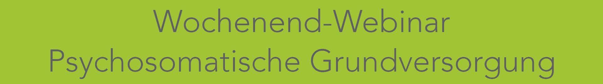 Psychosomatische Grundversorgung Kurs an vier Wochenenden Online als Webinar per Videokonferenz