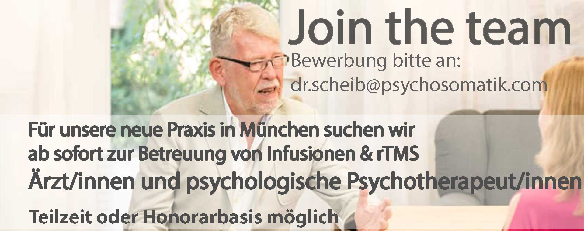 Stellenangebot München psychologische Psychotherapeuten und Ärzte